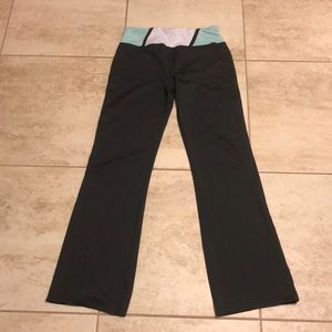 Bally charcoal grey high rise yoga pants Sz L